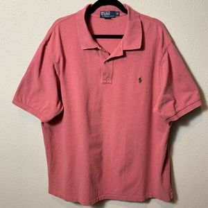 POLORALPHLAUREN Men's 2XBig Red Polo
